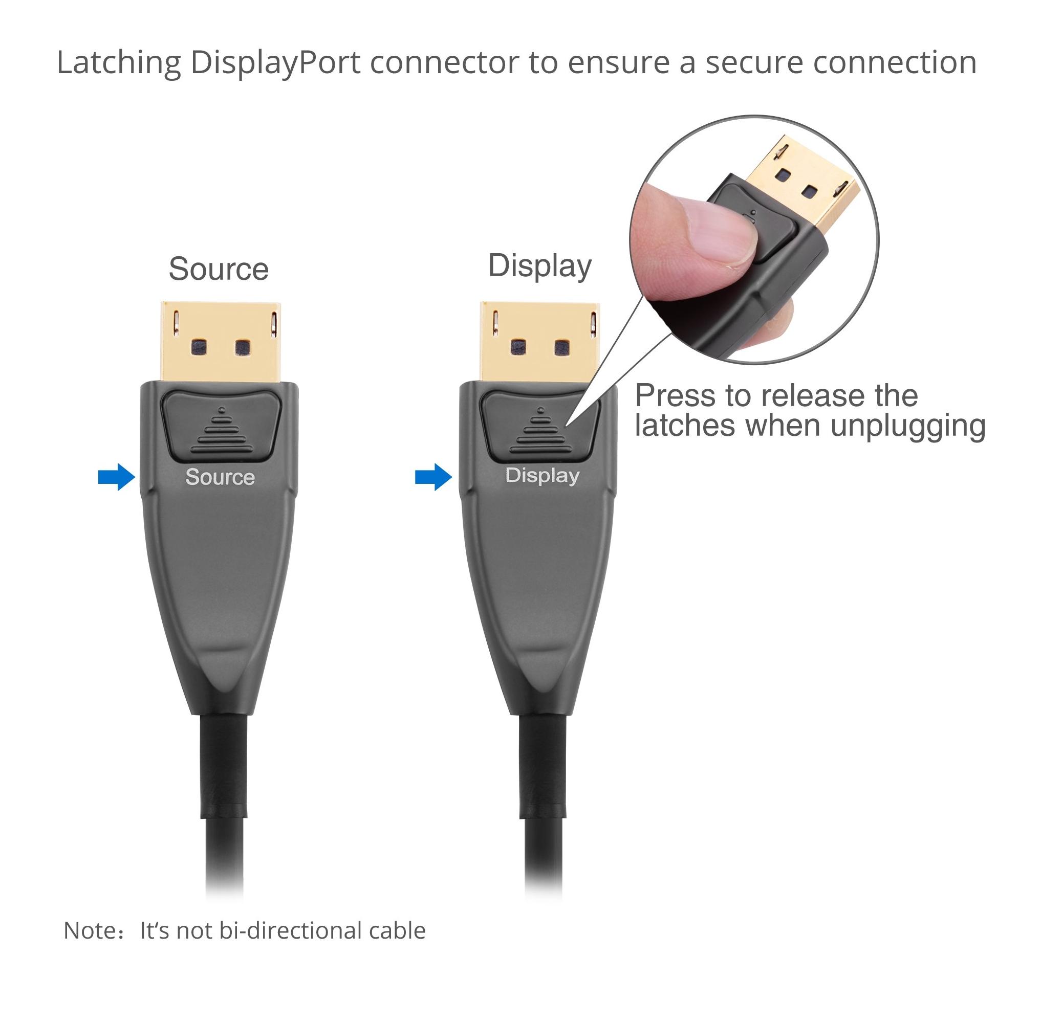 Pacroban 8K DisplayPort 1.4 Cable 240Hz G-sync HBR3 HDR 10+ 4K 144Hz // 120Hz DSC - DP 1.4 Cable Braided 10ft